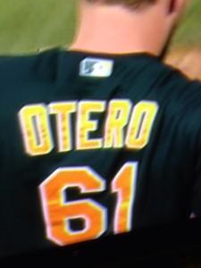 D.  Otero.  Dan or Darren, whtaever.  Go A's!