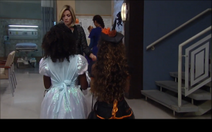 Isabella's Hair, Approaching Donna Mills (who is apparently a bad guy.)